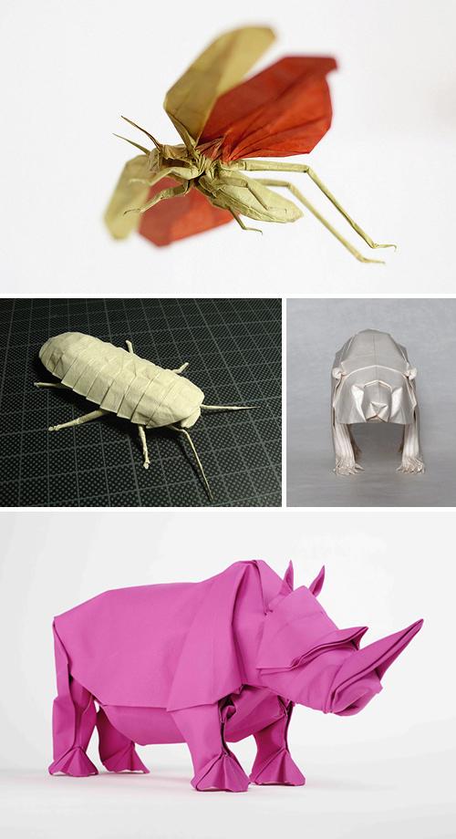 Mabona Origami, unfolding rhino