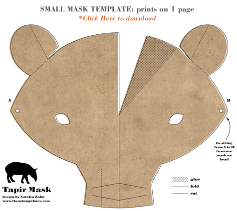 Tapir Mask by Natalya Zahn