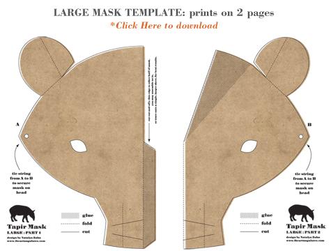 Tapir Mask by Natalya Zahn
