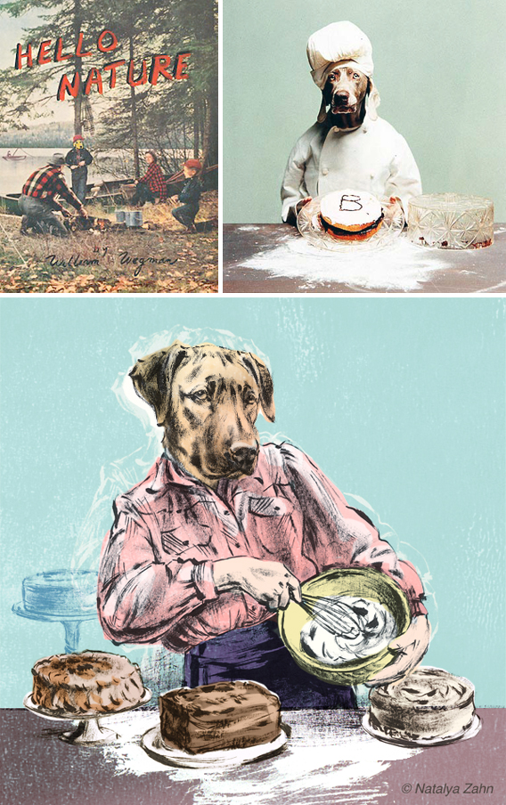 Oscar the Rhodesian Ridgeback, dog chef, pays homage to William Wegman