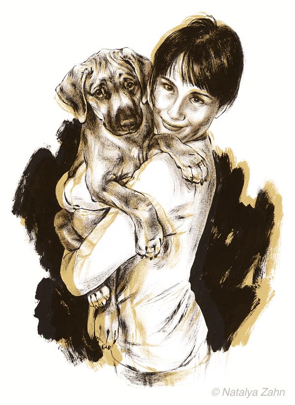dog portrait of Rhodesian Ridgeback puppy, Nigel