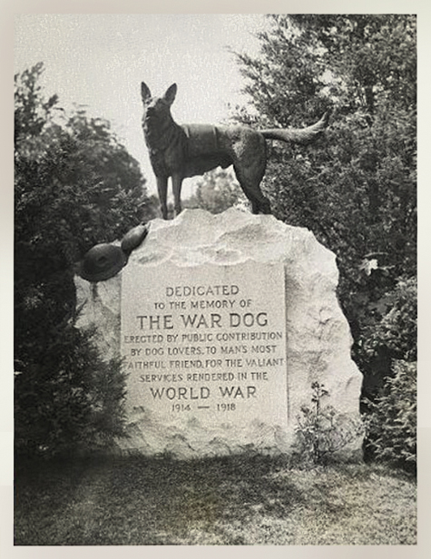 War Dog Memorial, Hartsdale, dogs of war