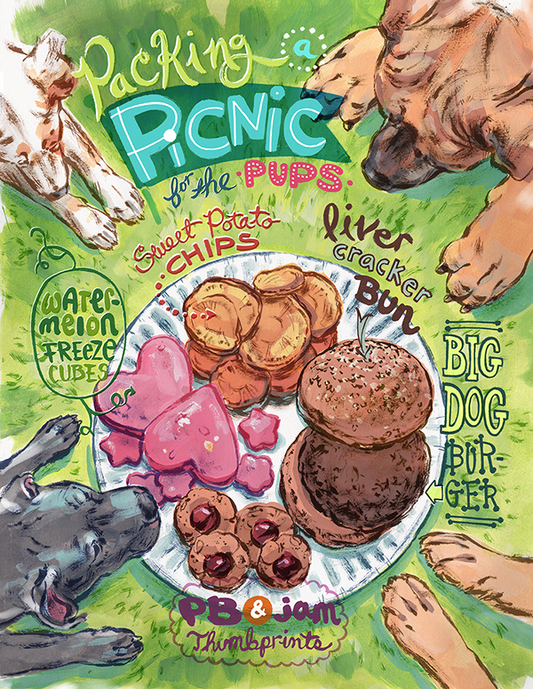 Illustrated Recipes by Natalya Zahn for The Bark magazine