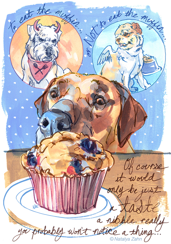Oscar the Ridgeback and Illustrator Natalya Zahn on DogMilk's Scratchbook
