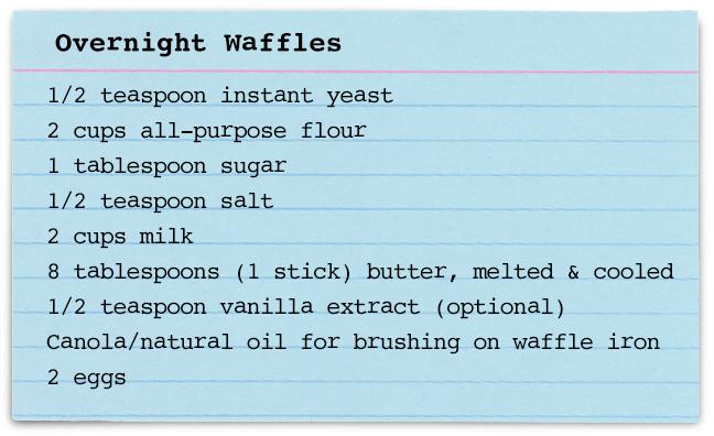 Mark Bittman's Overnight Waffle Recipe