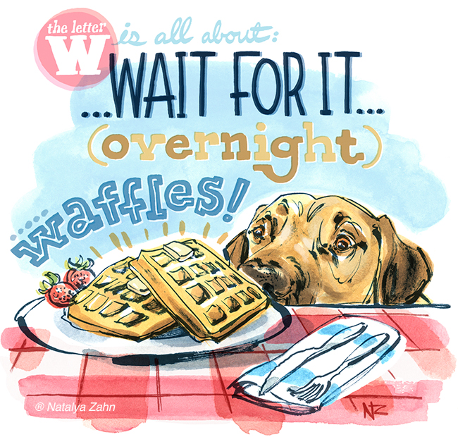 Oscar the Rhodesian Ridgeback making Mark Bittman's Overnight Waffle Recipe